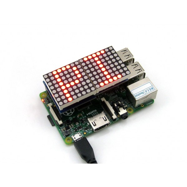 MAX7219 LED Matrix RaspberryPi HAT - Shiratech FFPGA